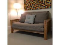 Futon Company 2 Seat Sofa & Double Bed - less than half the price on a new model!