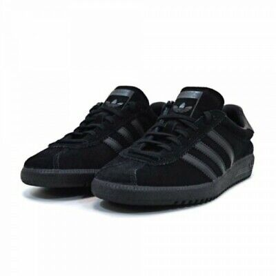 Adidas Originals Bermuda Trainers Triple Black BNIBWT Size UK 12 EU 47.3