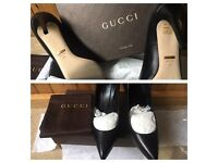 Authentic GUCCI heels with store receipt! See my Louboutins also ❤️