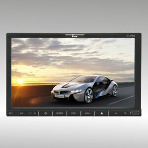 """7"""" TVIEW Double Din Fully Motorized DVD with Bluetooth D75TSB"""