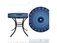 M&S large mosaic garden table