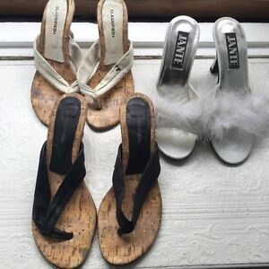 Sandals low heels woman size 8 sandale 3for 20$