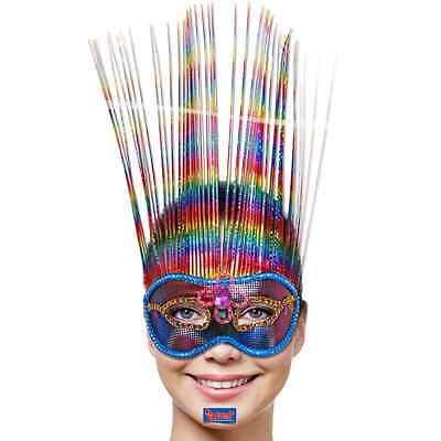 2er SET  MASKE Venice Rainbow Deluxe FASCHING venezianische REGENBOGEN  MASKEN