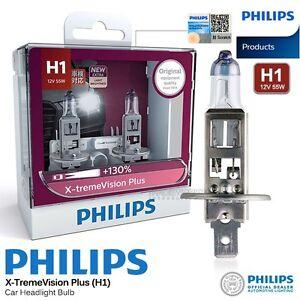 pair genuine philips h1 x treme vision plus halogen bulb. Black Bedroom Furniture Sets. Home Design Ideas