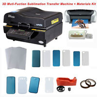 3D Vacuum Sublimation Transfer Machine and Iphone Cases KIT