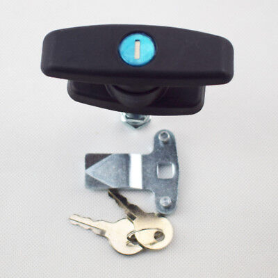 T Handle Latchlock Keyed Alike Black Coated For Cabinets Security Safetycontrol