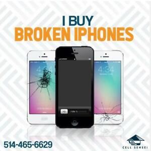Buying all IPHONES damaged or broken