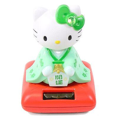 Cute Hello Kitty in a Green Kimono Solar Toy Lucky Home Decor Gift US Seller ()