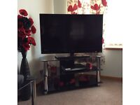 Hygena Black Glass Corner TV Unit