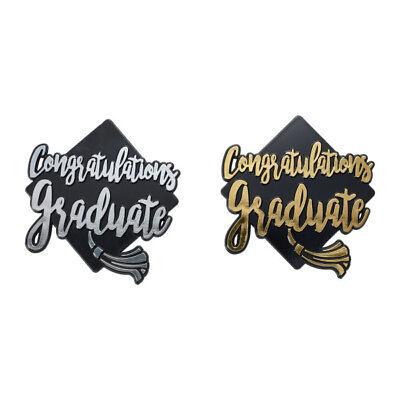 Graduation Cake Topper (Congratulations Graduate Cake Topper Gold OR Silver Graduation Cap)
