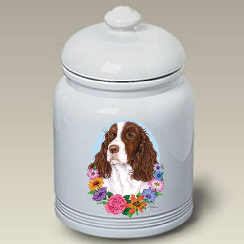 Springer Spaniel Liver & White Treat Jar