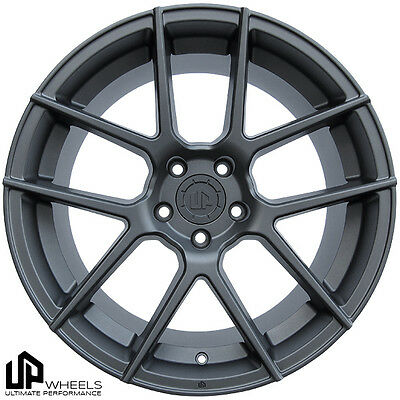 "19"" ULTIMATE PERFORMANCE UP520 MATTE GUNMETAL CONCAVE UP WHEELS RIMS FITS JDM"