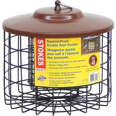 2 Pack Stokes Black Metal Squirrel Proof Double Bird Seed Food Suet Feeder 38069