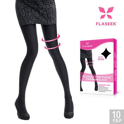 FLASEEK PANTYHOSE Premium Black Color Compression Leg Support Stocking_EC
