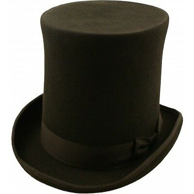 Express Hats, Stove Pipe, Lincoln, Victorian, Steam Punk Wool Felt Tall Top Hat  ()
