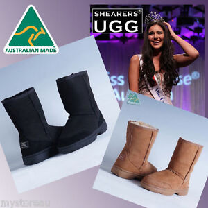 BIG-SALE-HAND-MADE-Australia-SHEARERS-UGG-Outdoor-Short-Sheepskin-Boots