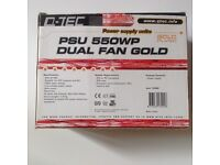 Internal power supply for ATX or P4 Tower desktop computers 550watts Dual fan gold plated New in Box