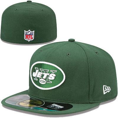 New York Jets Green On-Field Player Sideline 5950 Fitted Flat Bill Brim Hat Cap (Green Sideline Flat)