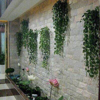 9.75ft Plant Garland Ivy Decor Plastic Hot Green Home Foliage Flower Leaf e (Green Decorations)