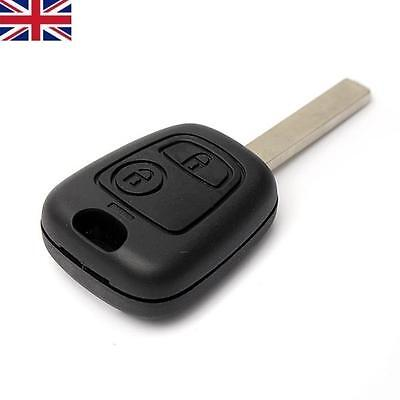 New Replacement 2 Button Remote Key Fob Case Shell + Blade For Peugeot 307