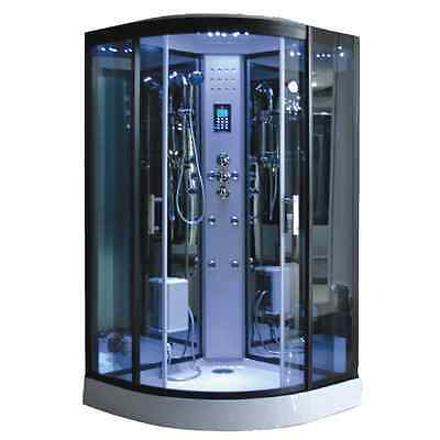 Duschtempel Dampfdusche RUW513BDL Deluxe 90x90x220 cm LED Radio Touchpanel