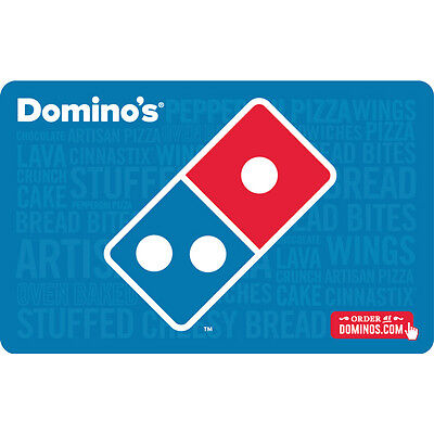 25 Dominos Gift Card For Only  21    Free Mail Delivery