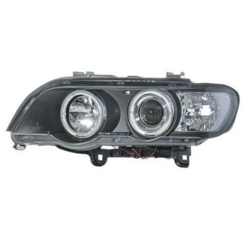 Koplampen BMW X5 E53 Angel Eyes zwart