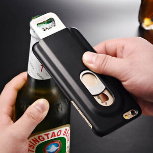 for iphone 6 4 7 cool aluminum metal beer bottle opener hard back case cover. Black Bedroom Furniture Sets. Home Design Ideas