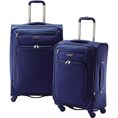 Samsonite 2 Piece Expandable Spinner Luggage Set - 2 Colors Blue or Black #61356