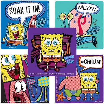 25 Spongebob Squarepants Flair Stickers Party Favors Teacher Supply 2.5