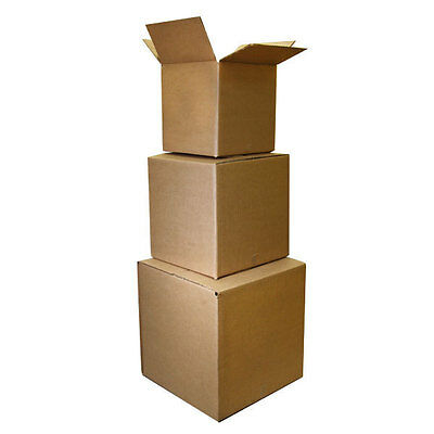 100 12x12x4 Cardboard Packing Mailing Moving Shipping Corrugated Box Cartons