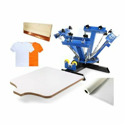 4 Color Manual Screen Printing Press Silk Screening Pressing Diy With 1 Station