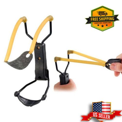 "7"" Folding Wrist-lock Sling Shot Slingshot High Velocity Brace Hunting Catapult"