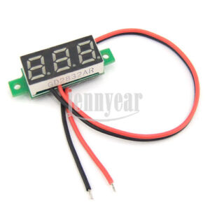 Mini-0-28-Volt-Meter-2-7-30VDC-Green-Digital-Voltmeter-LED-Panel-Voltage-5V-12V