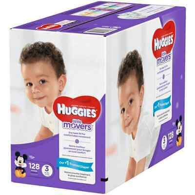 Huggies Little Movers Active Baby Diapers Size 3 16-28 lbs 128 count Free Ship