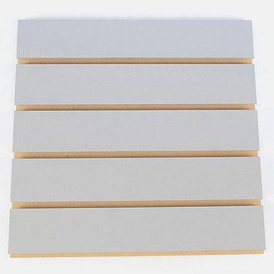 Fog Gray Melamine Slatwall Panel 4h X 8w 3oc - Pack Of 2