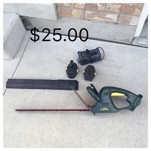 Yard works cordless hedge trimmer