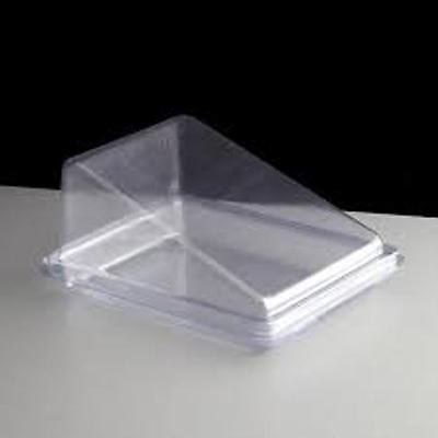 Cake Wedge Clear Plastic For Single Slice (75) Disposable Cake Box, Cake Display