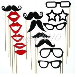15x-Photobooth-Props-on-Stick-Mustache-lips-Wedding-Party-Photo-Booth-Kit