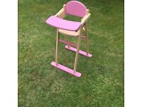 Dolls highchair