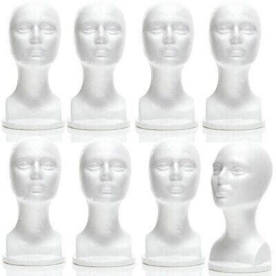 Mn-434 8 Pcs Female Styrofoam Mannequin Head Bust With Partial Shoulder