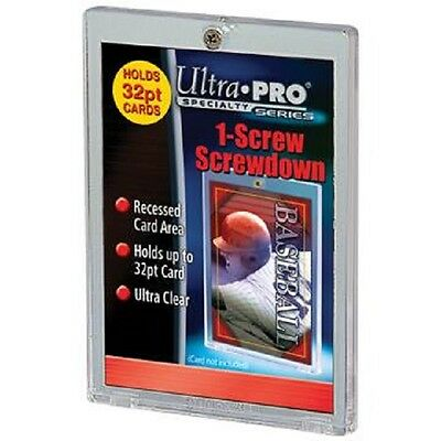 (50) Ultra Pro 1 Screw Screwdown Recessed 32pt Sports Card Holder No PVC