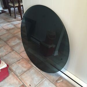 """42"""" tinted glass top, table top"""