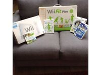 WiiSports, Wiifit plus and WiiSports Resorts ( with motion sensor plus)