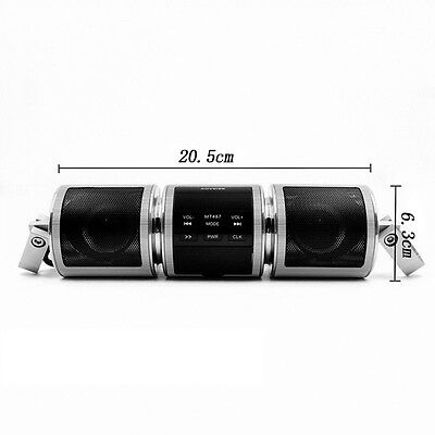 12V Bluetooth Motor Handlebar Audio Radio Stereo Speaker System Mp3 Usb Tf