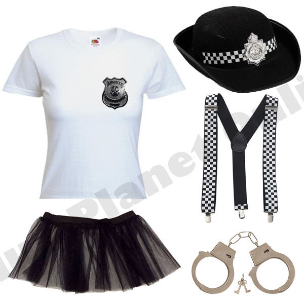 CHILD KIDS GIRLS WPC POLICEWOMAN POLICE WOMAN FANCY DRESS COSTUME COP