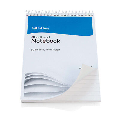 SHORTHAND REPORTERS NOTE PAD NOTEBOOK SPIRAL BOUND RULED CHEAP 160 PAGES 8