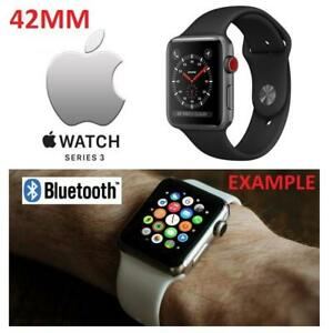 NEW APPLE WATCH SERIES 3 42MM MQL12LL/A 177080105 SPACE GREY ALUMINUM W/ BLACK SPORT BAND GPS