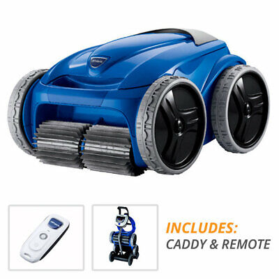 Polaris 9550 Sport Robotic In ground Swimming Pool Cleaner + Remote & Cart Caddy