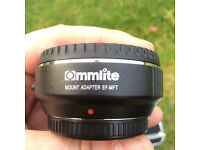 Commlite Camera Mount Adapter EF - MFT electronic aperture control Canon - GH4